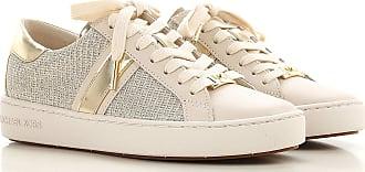 Michael Kors Sneaker für Damen, Tennisschuh, Turnschuh Günstig im Sale, Blassgold, Leder, 2019, 35.5 37 38 39 40
