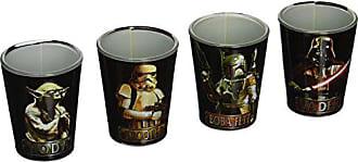 Disney Silver Buffalo SW031SG1C Star Wars Characters Mini Glass Set, 4-Pack