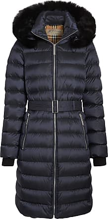b6b65ccc745c Burberry Detachable Shearling Trim Down-filled Puffer Coat - Blue