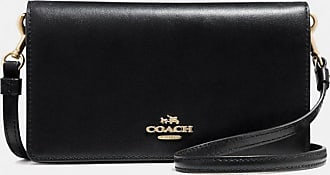 Coach Slim Phone Crossbody in Black