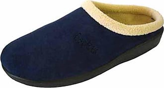 Footwear Studio Ladies Womens Navy/Burgundy/Beige COOLERS Quality Comfort Mules Slippers= Navy UK 5