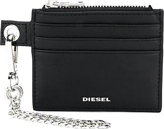 Diesel Porta-cartões Carly de couro - Preto