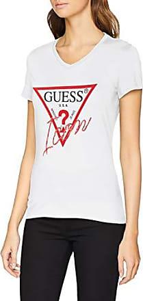 Guess CN SS Jersey tee Camiseta de Tirantes, Blanco (True