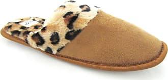 Your Dezire Leopard Fur Slip On Slippers-Beige-UK 5/6 Meduim
