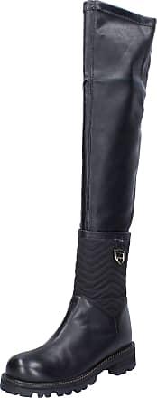 Twin-Set Twin-Set Women Leather Black Boots 5.5 UK