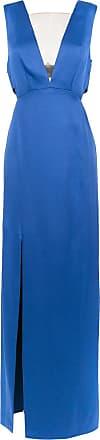 Tufi Duek Vestido longo com recortes - Azul