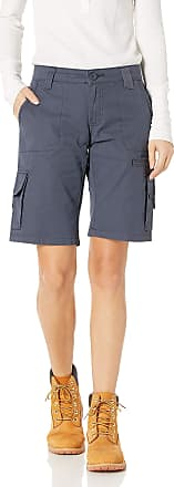 Dickies Womens 11 Relaxed Fit Cotton Cargo Shorts, 18, Rinsed Diesel Gray
