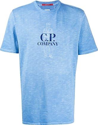 C.P. Company Camiseta mangas curtas com estampa - Azul