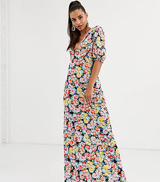 Asos Tall ASOS DESIGN Tall maxi tea dress with strappy back in floral print-Multi