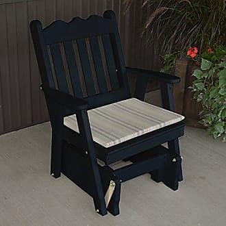 A & L Furniture A & L Furniture Yellow Pine Royal English Glider Chair, Black