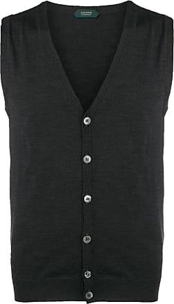 Zanone v-neck knitted vest - Grey