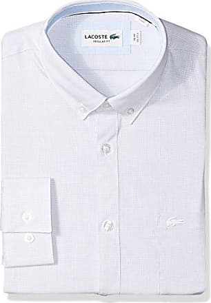 ce31bc2db Lacoste Mens Long Sleeve with Pocket Textured Solid Poplin Regular Fit Woven  Shirt