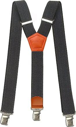 grey 35 mm wide Lindenmann suspenders//Mens suspenders
