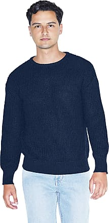 American Apparel Mens Fishermans Long Sleeve Pullover Sweater, Navy, XS