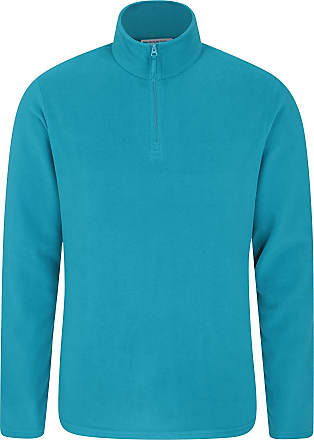 Mountain Warehouse Mens Camber Fleece Top - Lightweight Top, Breathable Sweater, Quick Drying Pullover, Extra Ventilation - Ideal for Winter Walking Teal 3XL