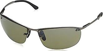 Ray-Ban RB3542 Chromance Lens Wrap Sunglasses, Gunmetal Frame/Silver Mirror Lens (029/5J)