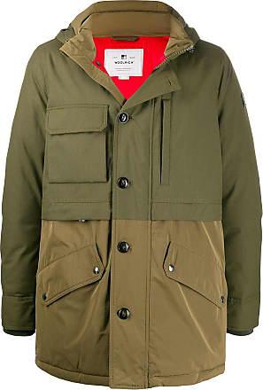 Woolrich hooded dual-fabric parka - Green