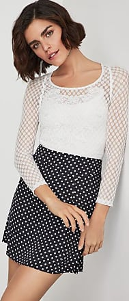 BCBGeneration Mixed Lace Top