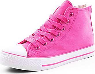 cb5025f228d98a Marimo Damen High Top Turnschuhe Sneaker Textil Canvas Schuhe Pink 36