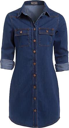 SS7 New Vintage Denim Blue Shirt Dress Sizes 6-16 (UK - 18, Vintage Denim)