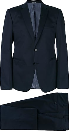 e2934ea11b7 Mens Giorgio Armani 40 Regular Navy   Brown Pinstripe Wool 32 32 Suit. USD   526.00. Delivery  Delivery costs apply. Emporio Armani slim fit two-piece  suit - ...