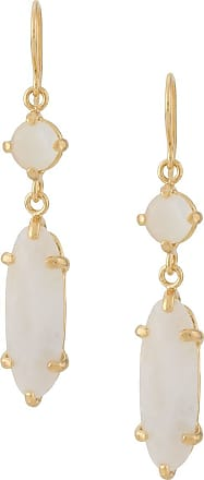Wouters & Hendrix I Play mother of pearl moonstone earrings - GOLD