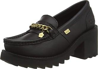 Kickers Womens Klio Chain Loafer, Multicolour (Black/Gold Blk/Gld), 6.5 (40 EU)