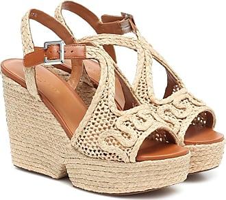 Robert Clergerie Doloria raffia wedge sandals