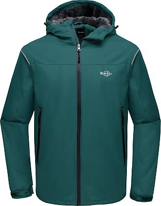 Wantdo Mens Hooded Waterproof Outdoor Winter Ski Jacket Blackish Green Small