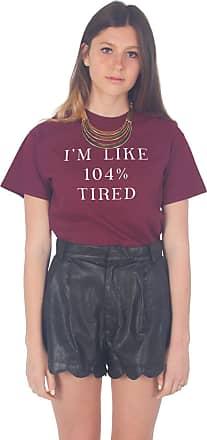 Sanfran Clothing Sanfran - Im Like 104% Tired T-Shirt - Medium/Maroon