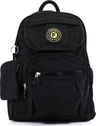 Your Dezire Womens Ladies Mini Fabric Backpack Rucksack Girls School Bag College Womens Shoulder Gym Bag Black