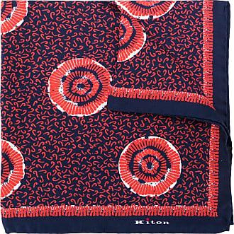 Kiton Lenço de bolso de seda com estampa abstrata - Vermelho