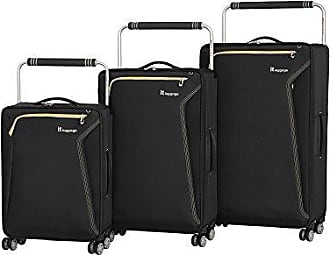 IT Luggage Worlds Lightest Accent 8 Wheel 3 Piece Set, Black