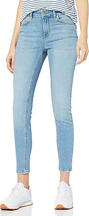 Pieces Womens PCDELLY MW Crop Slit SK LB108-BA/NOOS Skinny Jeans, Blue (Light Blue Denim Light Blue Denim), 12 / M