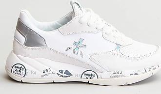 Reposi Calzature PREMIATA Sneakers in pelle bianco grigio perla