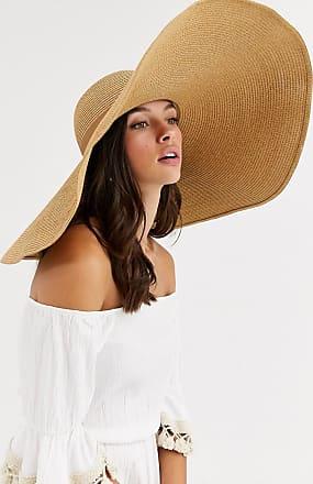 Asos Cappello di paglia largo regolabile marrone