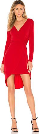 BCBGeneration Twist Surplice Dress in Red