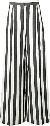 Escada Sport Calça pantalona listrada - Preto