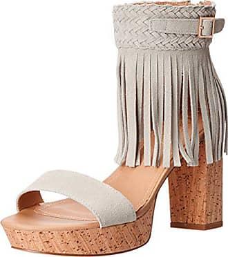 60da91078b Nanette Lepore Womens Vanessa Platform Dress Sandal, Light Grey, 8.5 M US