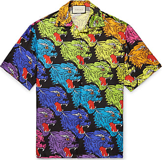 e6356391 Gucci Camp-collar Printed Silk-twill Shirt - Multi