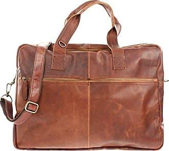 dcd7cf50c1a03e Leconi Weekender Handgepäck kleine Reisetasche Damen Herren Sporttasche  Fitnesstasche Ledertasche vintage echtes Leder Natur 48x35x15cm braun