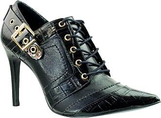 Jorge Bischoff Ankle Boot Feminina Jorge Bischoff Croco Verniz