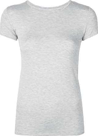 Majestic Filatures Camiseta lisa - Cinza
