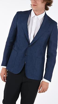 Corneliani CC COLLECTION giacca a 2 bottoni REWARD in lino con tasca a taglia 52