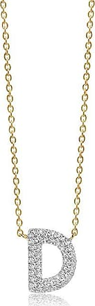 Sif Jakobs Jewellery Halskette Novoli D - 18K vergoldet mit weißen Zirkonia