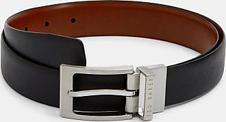 NWT New Ted Baker Reversible Black /& Dark Brown 2-sided Men's Leather Belt Sz 32