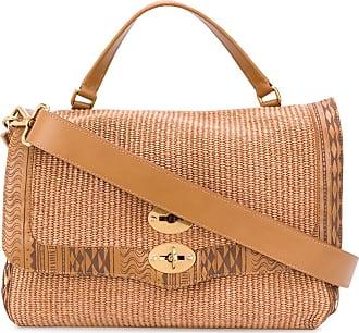 Zanellato stitch detail satchel - Brown
