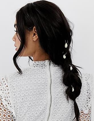 Asos Set da 6 anelli per capelli oro con ciondoli a conchiglia - Oro 2472f52658d8