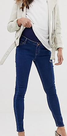 Asos Maternity ASOS DESIGN Maternity Ridley high waisted skinny jeans in rich mid blue wash with over the bump waistband