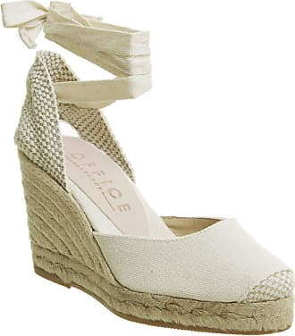 Office Marmalade Espadrille Wedges Natural Canvas - 5 UK